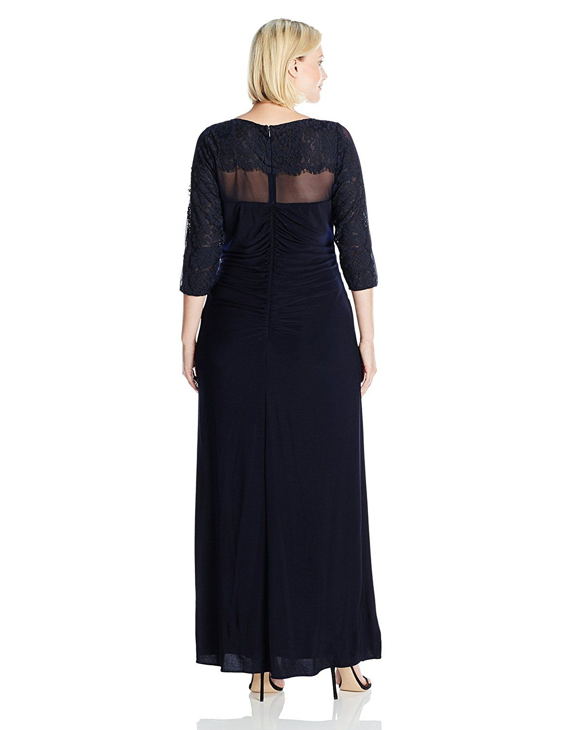 Xscape womenus plus size long ity with lace sleeves you can find