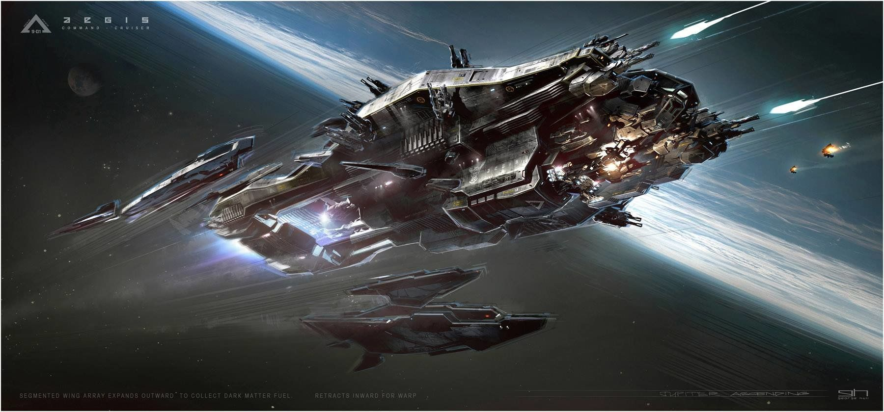 ArtStation - Aegis Command Cruiser concept from Jupiter Ascending, George Hull