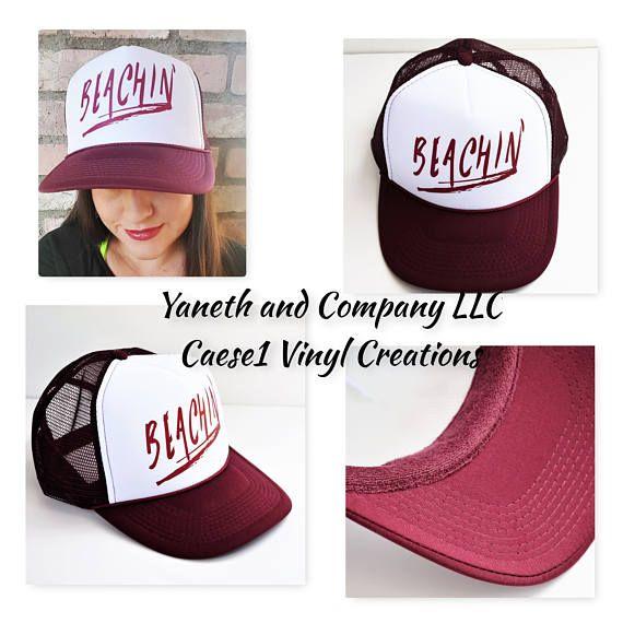 e46a634b239a6e Beachin' Trucker Hat,Maroon Beachin' Trucker,custom trucker hats ...