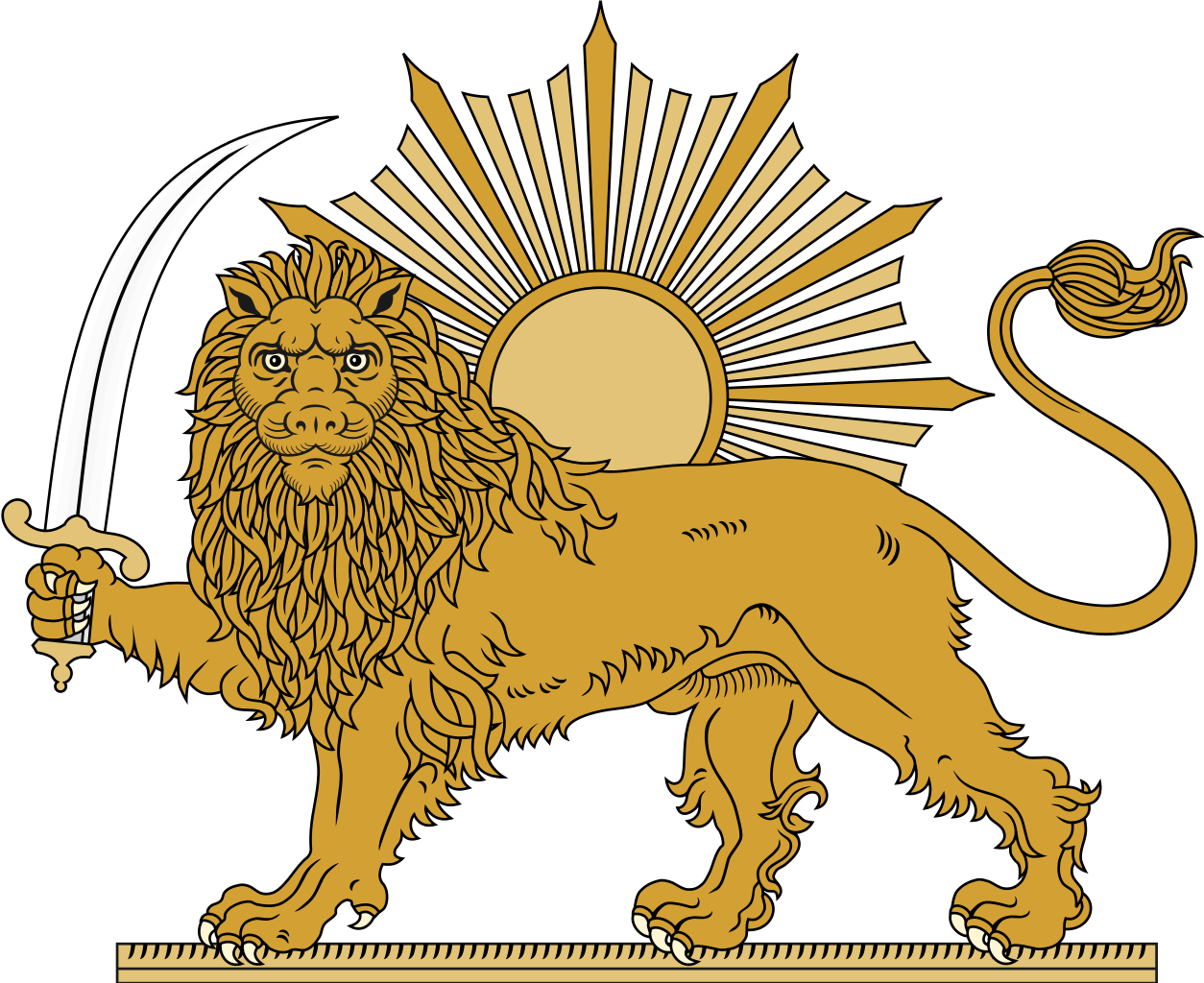 The Lion And Sun Persian شیر و خورشید Shir O Khorshid Is One Of The Main Emblems Of Iran And Formerly Was An E Persian Tattoo Ancient Lion Persian Empire