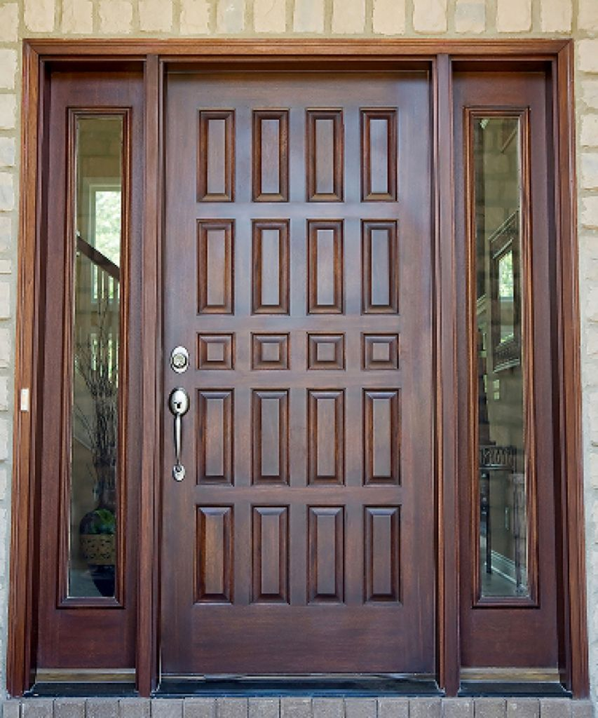 General fiberglass entry doors front side touch of for Designs for main door of flat