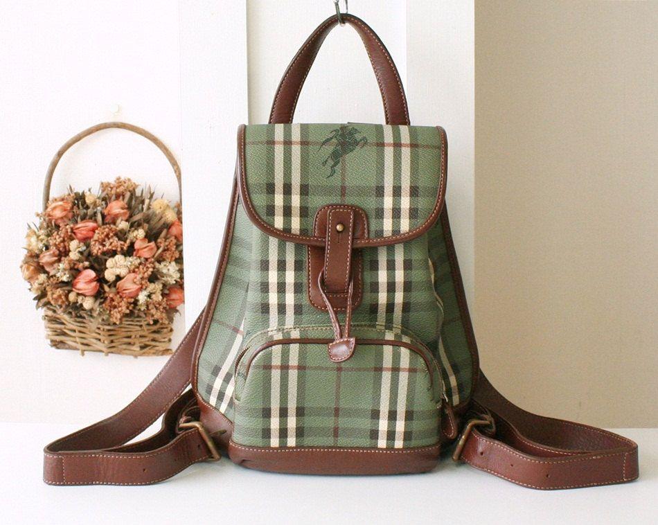 Reserved - Burberry Backpack Vintage bag Haymarket nova check handbag (285.00 USD) by allvin
