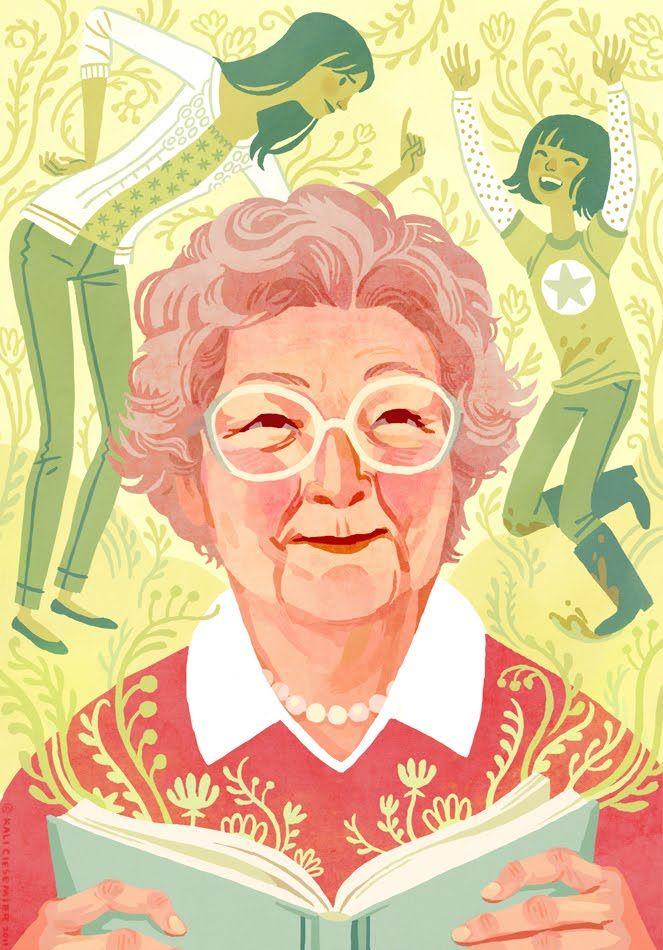 KALI CIESEMIER | Dibujo abuela, Personajes ilustracion, Diseño de ...