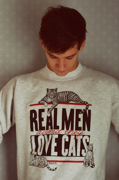 Fuck Yeah Funny Cats! Real Men admit thay love cats! #photography #man #quote