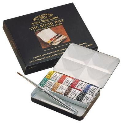 Winsor Newton Artists Water Colours Paints 8 Half Pans Bijou