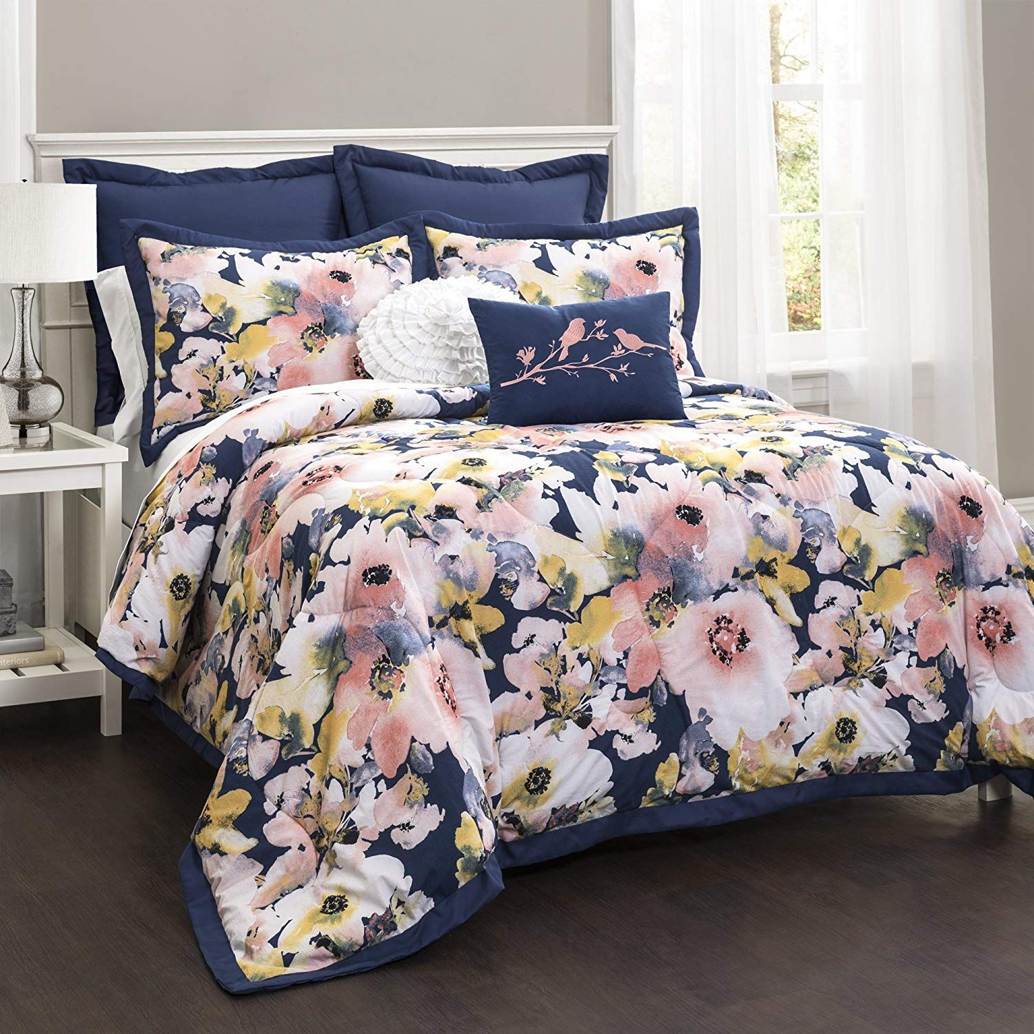Lush Decor Lush Da C Cor Floral Watercolor 7 Piece Comforter Set Full Queen 0 To View Further For This Floral Comforter Sets Comforter Sets Floral Comforter