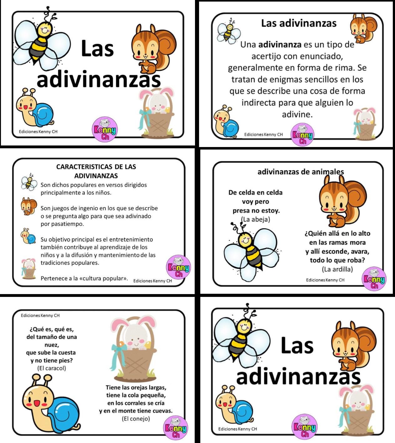 Compañeros y amigos docentes les compartimos estos diseños sobre las  adivinanzas para que les podamos enseñar a nuestros alumnos sobre