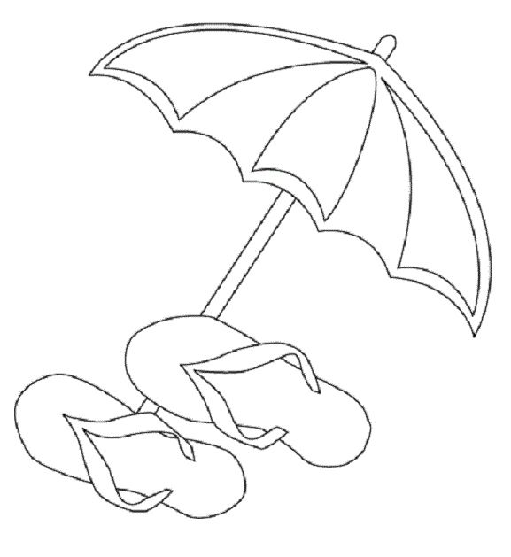 Summer Umbrella Coloring Pages Umbrella Day Cartoon Coloring Pages