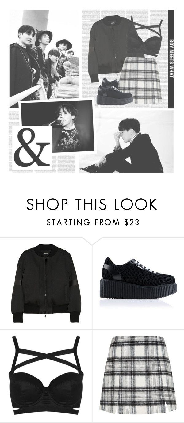 """Whalien 52--- BTS"" by alicejean123 ❤ liked on Polyvore featuring DKNY, Karl Lagerfeld and Topshop"