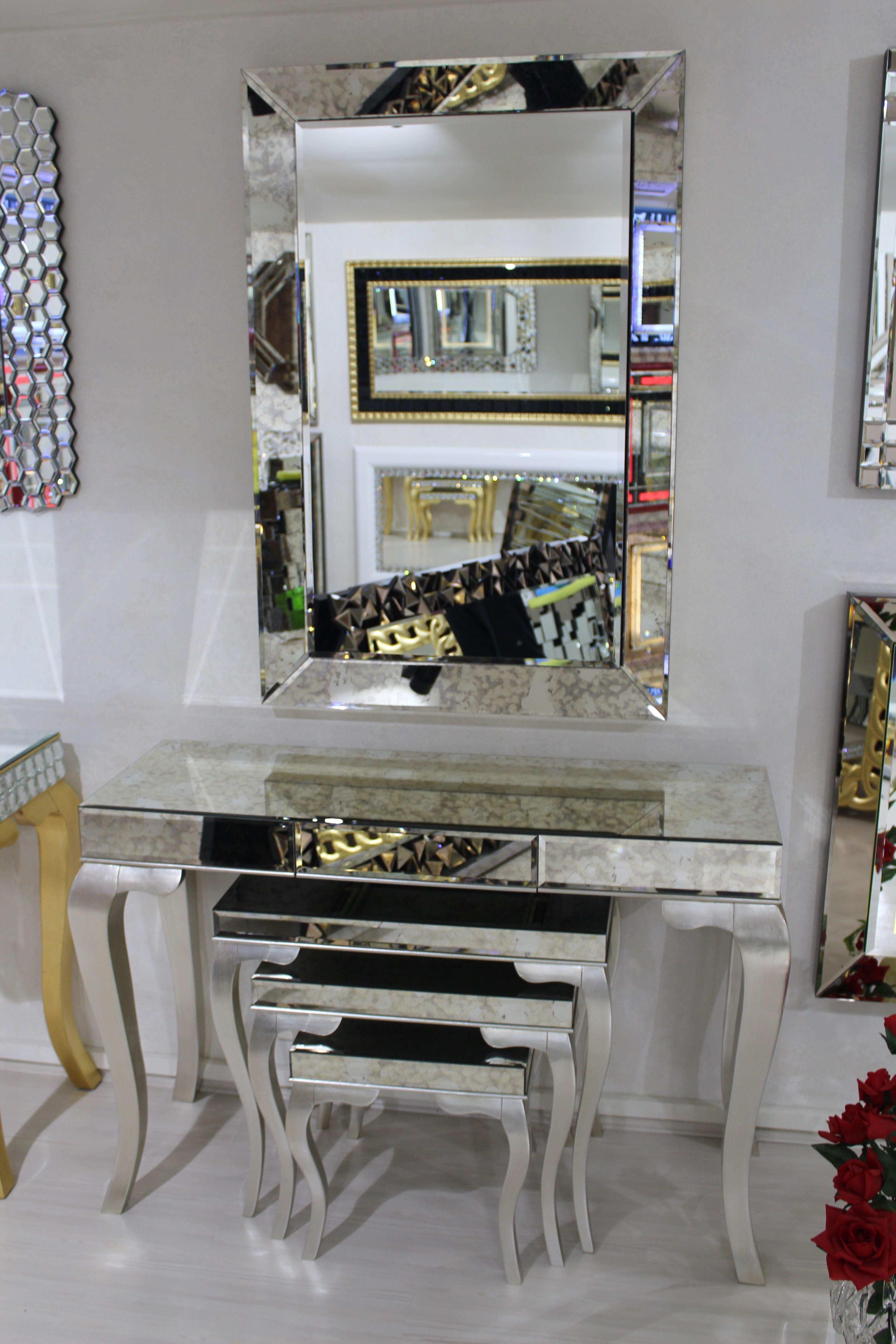 Ayna mirror dekoratif duvar banyo kaplama varak for Mobilya wedding