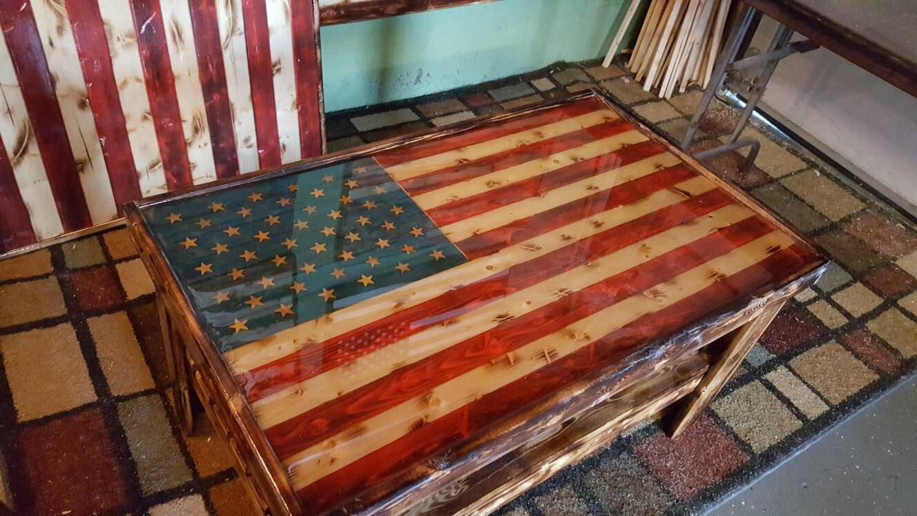 American flag coffee table coffee table wood american