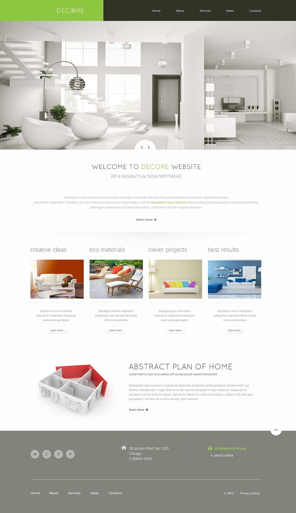 Home Decor Responsive Website Template 46692 With Images Home