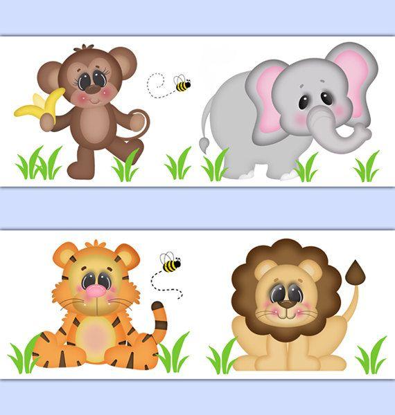 Safari Nursery Decor Wallpaper Border Wall Decals Animal