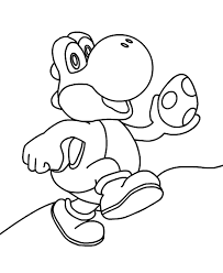 Super Mario Yoshi Coloring Pages With Images Super Mario