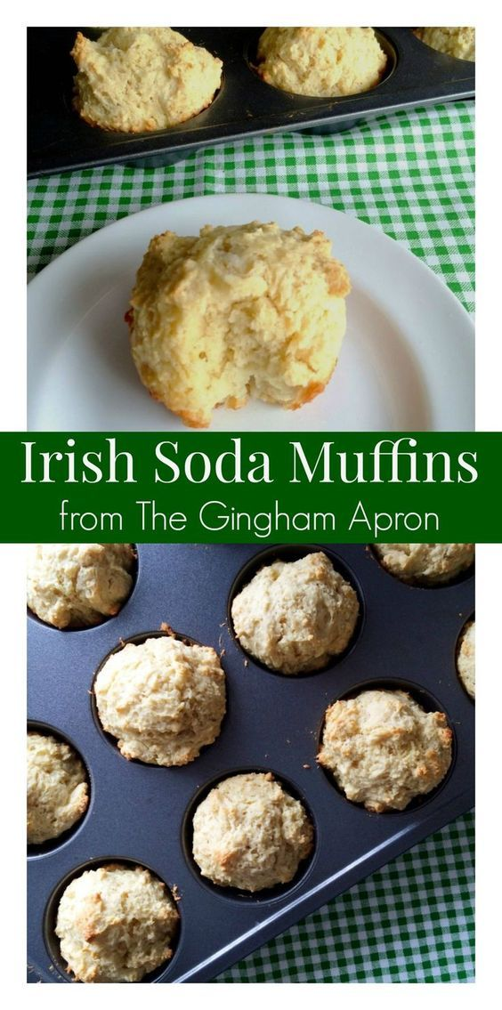 Perfect for St. Patrick's Day or for any day! Light, fluffy, and simple: Irish Soda Muffins.