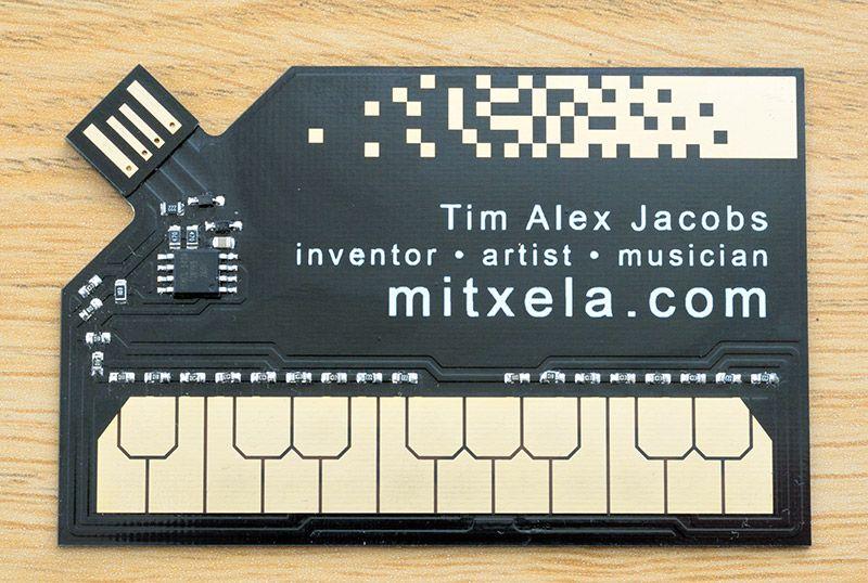 Business Card Usb Midi Controller Mitxela Stylocard Digital Business Card Music Business Cards Cool Business Cards