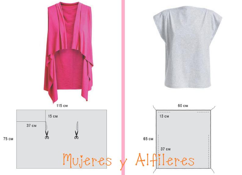 Mujeres y alfileres: Remera y saco sin mangas muy sencillo | sewing ...