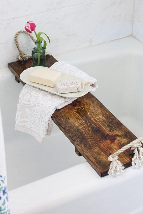 Free Plans: DIY Bath Tub Tray Tutorial