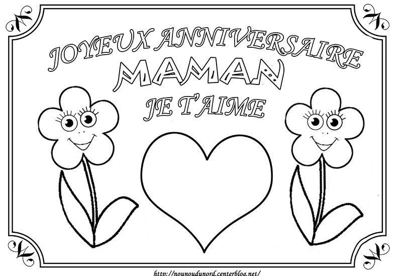 Coloriage Joyeux Anniversaire Maman Creative Home Pictures Free Hd Wallpapers
