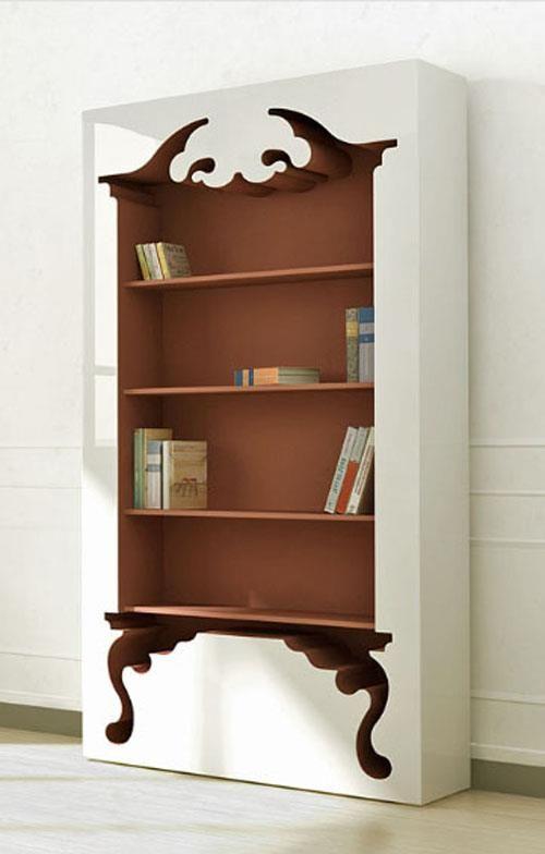 Librero estilo barroco. Diseño de Mungkii   Bibliotecas, libros ...