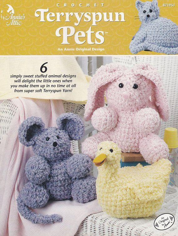 Terryspun Pets Annies Attic Crochet Pattern Booklet 871951 Mouse