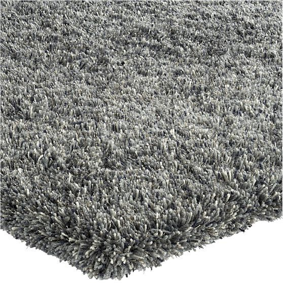 Zia Grey 9x12 Shag Rug In All Rugs Crate And Barrel 799