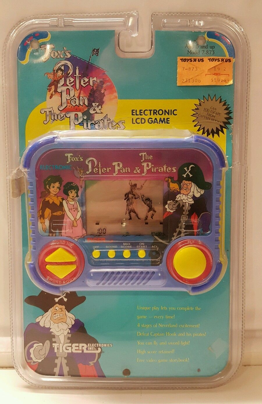 Cavalier round led illuminated bathroom mirror battery powered ebay - Vtg 1991 Peter Pan The Pirates In Package Tiger Electronics Handheld Lcd Game Ebay