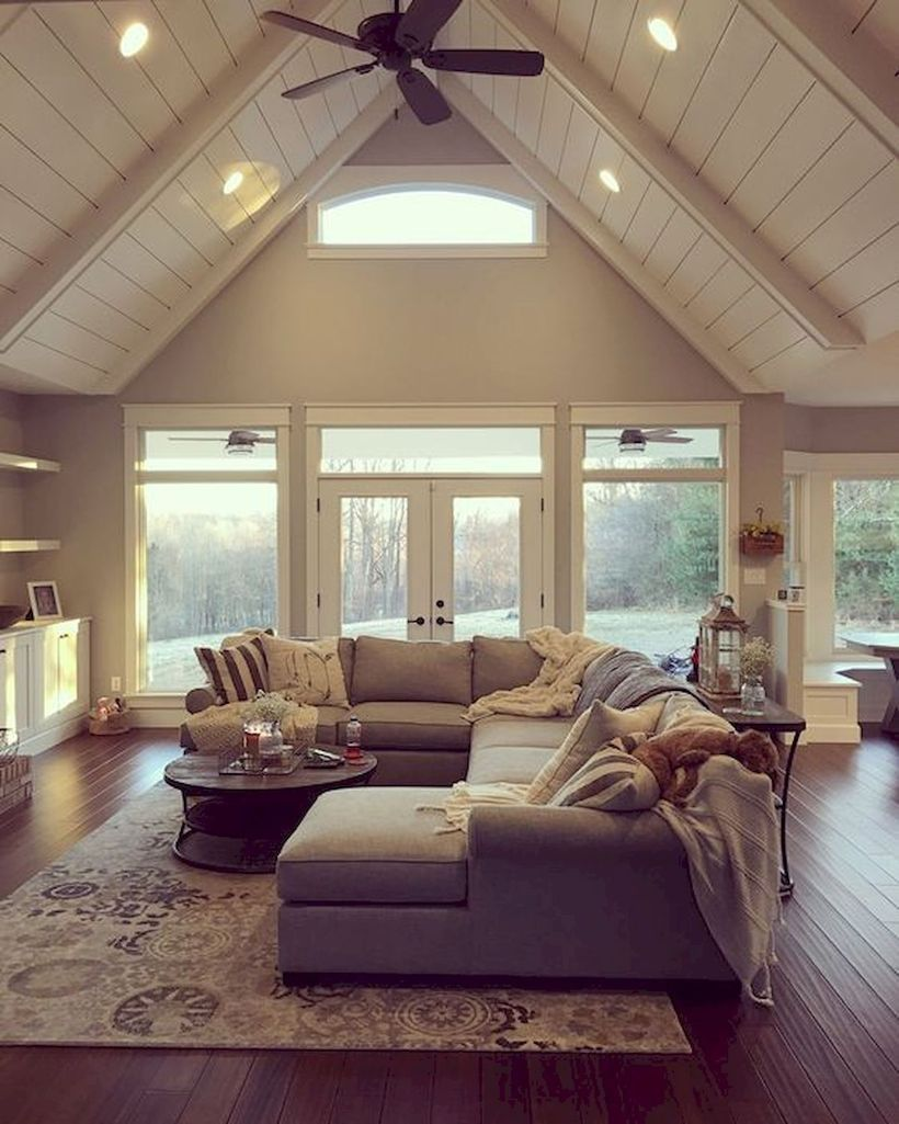 80 Modern Farmhouse Staircase Decor Ideas 64: Amazing62 Interesting Farmhouse Living Room Decor That