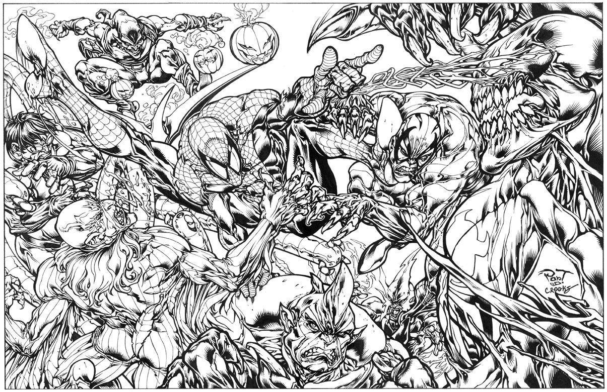 Spiderman Vs Venom Coloring Page Di 2020