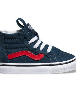 4ce4533fd7 Vans | Sk8-Hi Zip Varsity | Toddler Hi-top navy toddler Vans – the ...