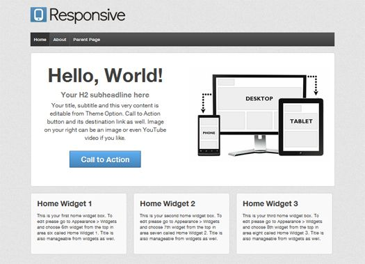 Free-Responsive-WordPress-Theme | Web Design | Pinterest