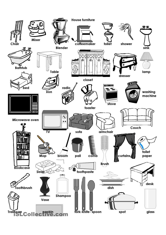 House Furniture | Compiti | Pinterest | Worksheets, Printable ...