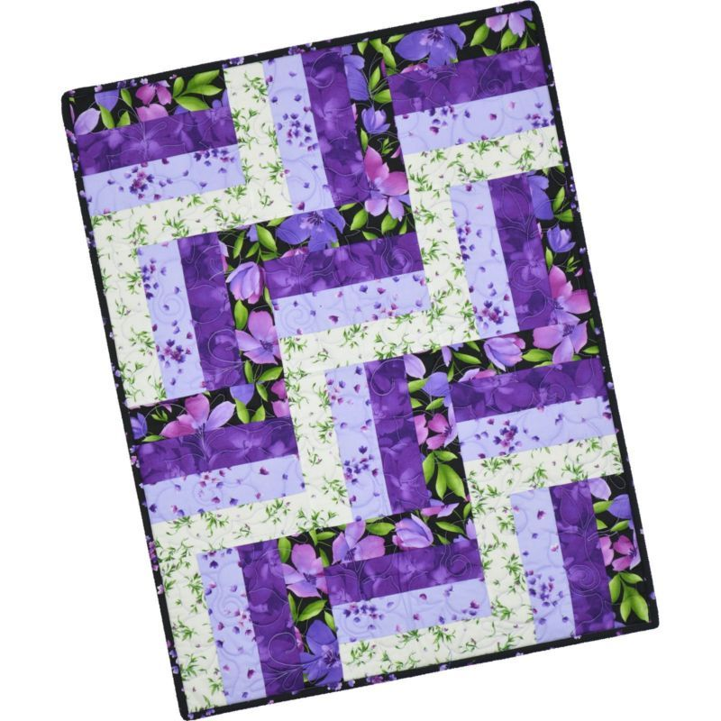 Catalina Ultra Violet~Pre-Cut Rail Fence Quilt Kit 24  x 32  by ... : precut quilt kits - Adamdwight.com