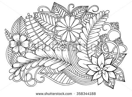Flowers Zentangle Stock Photos Images Pictures