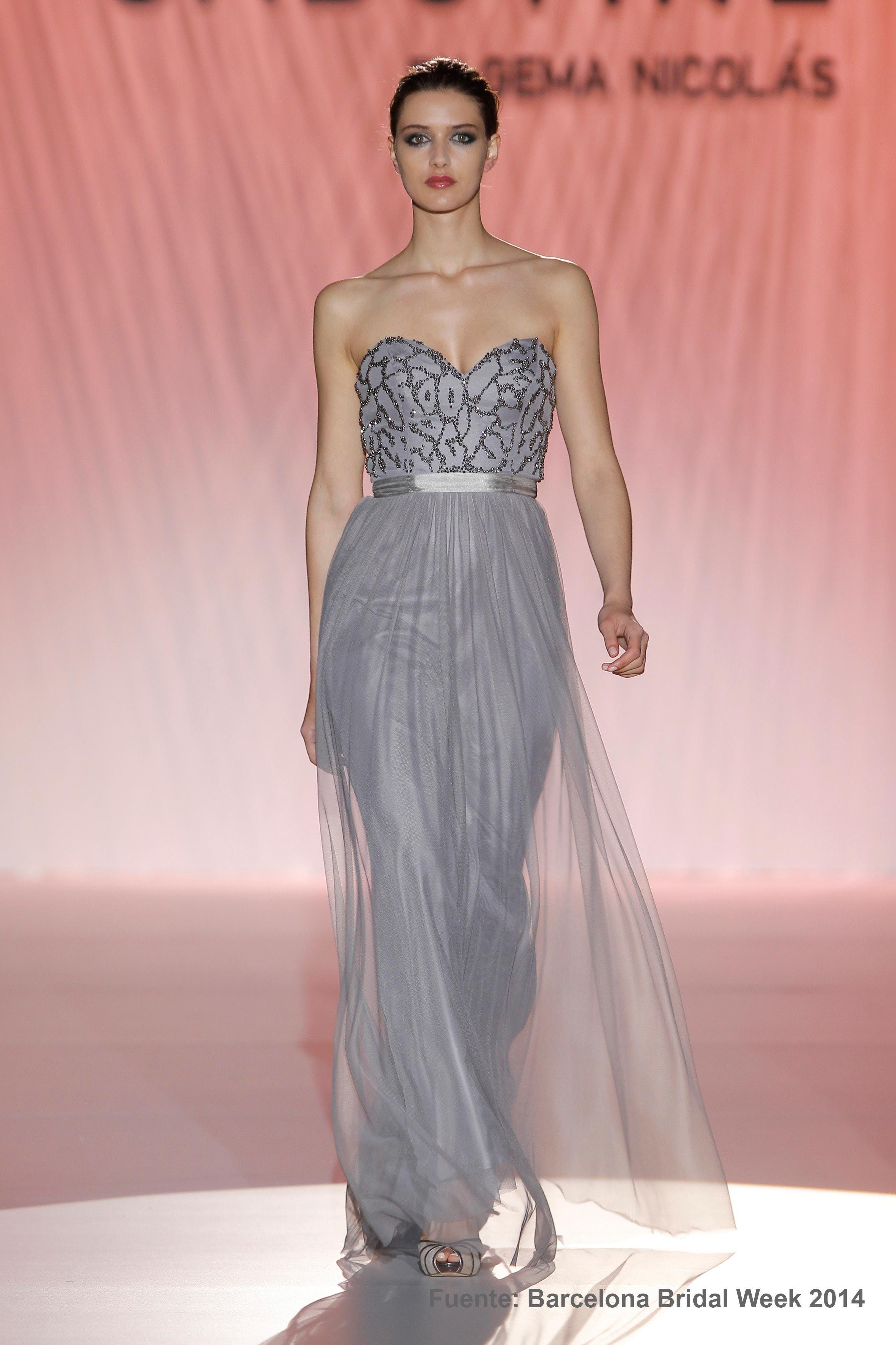 Cabotine-vestido largo gris | modas | Pinterest | Vestidos largos ...