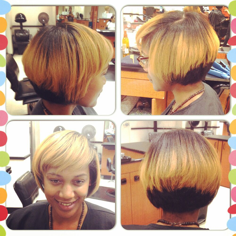 Natural long black to short two tone blonde cuts pinterest