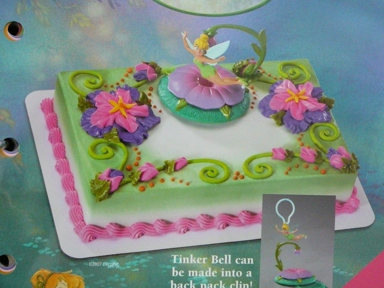 Fantastic Tinkerbell Birthday Cakes Tinkerbell Cake Fairy Birthday Cake Funny Birthday Cards Online Drosicarndamsfinfo