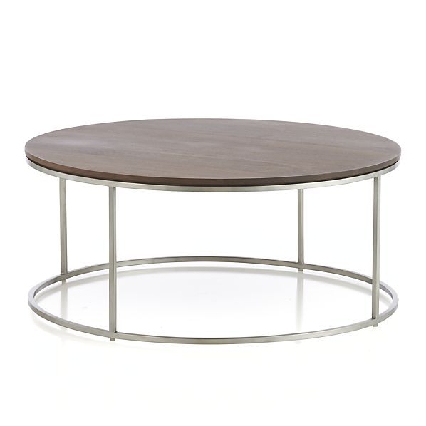Frame Round Coffee Table In Coffee Tables U0026 Side Tables | Crate And Barrel