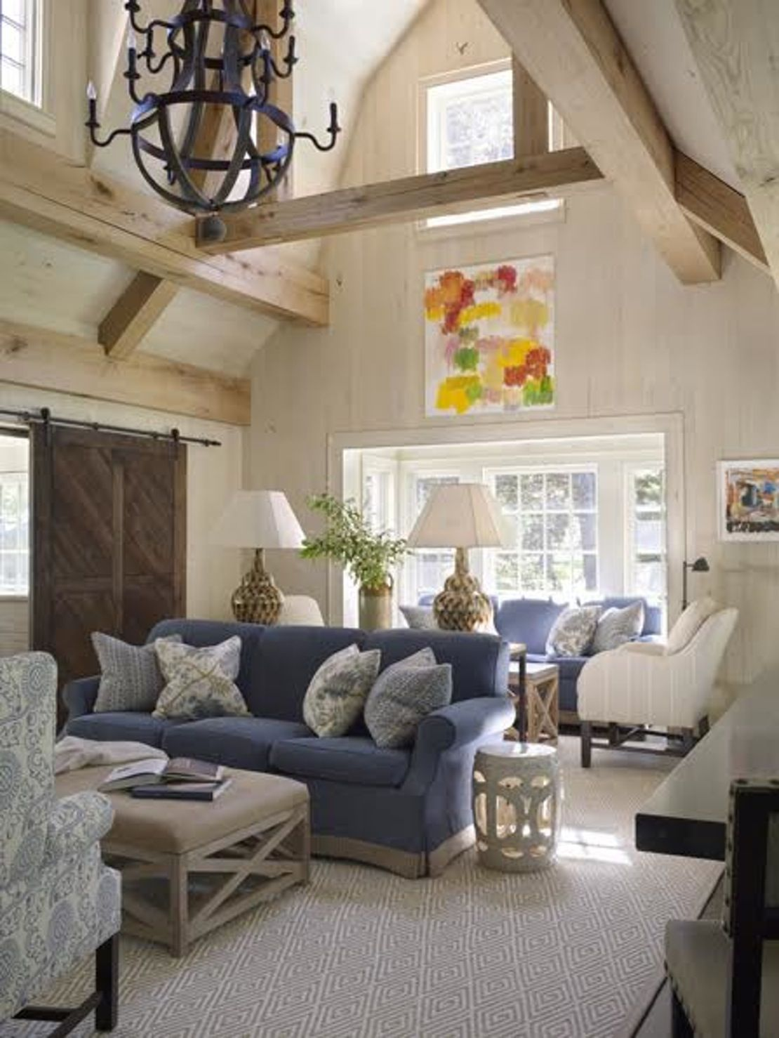 High Ceiling Family Room Family Room TraditionalNeoclassical by Amy Aidinis  Hirsch Interior Design LLC
