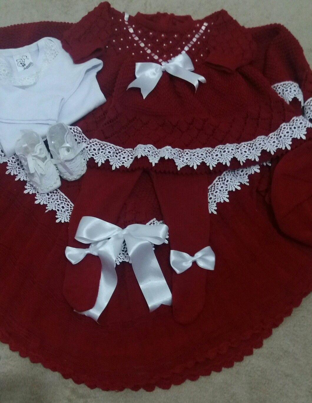 178fb3c5b1c5e Saída Maternidade Valentina Manta com acabamento em crochê e Guiper Vestido  com pérolas e bordado rococó