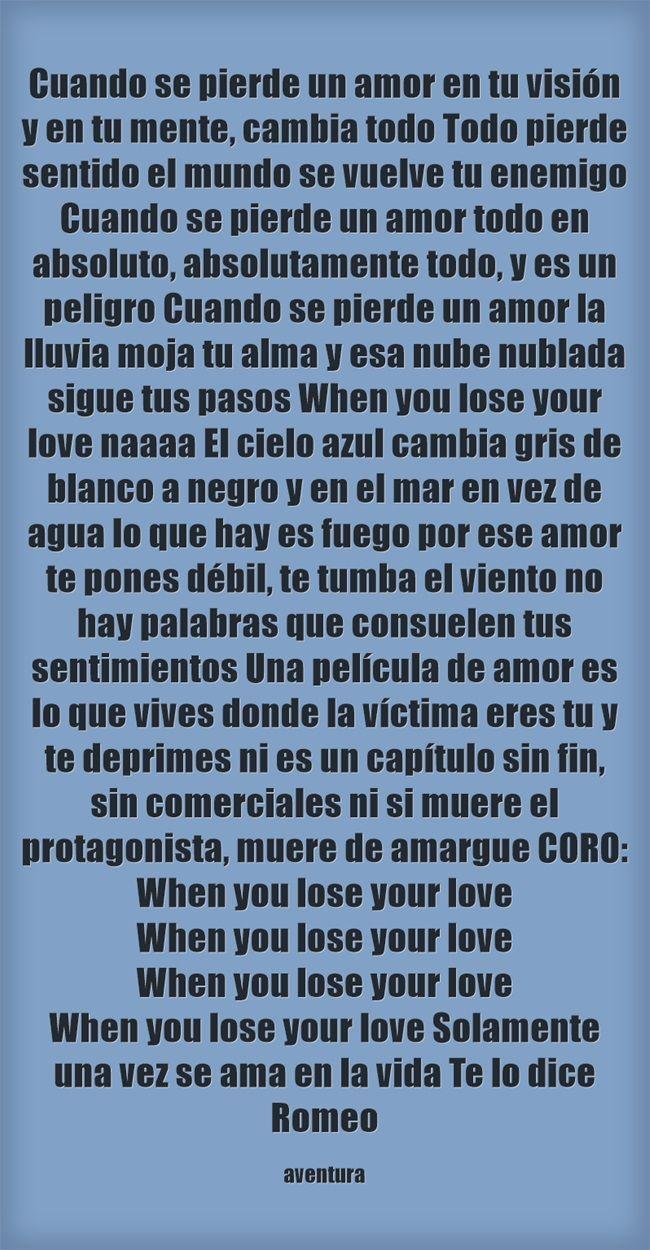 Cuando se pierde un amor
