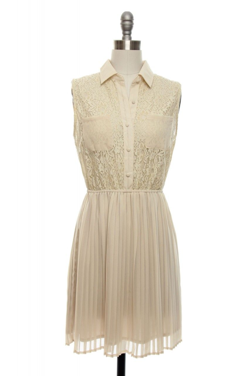 Cream collared lace dress fashion pinterest classy vintage