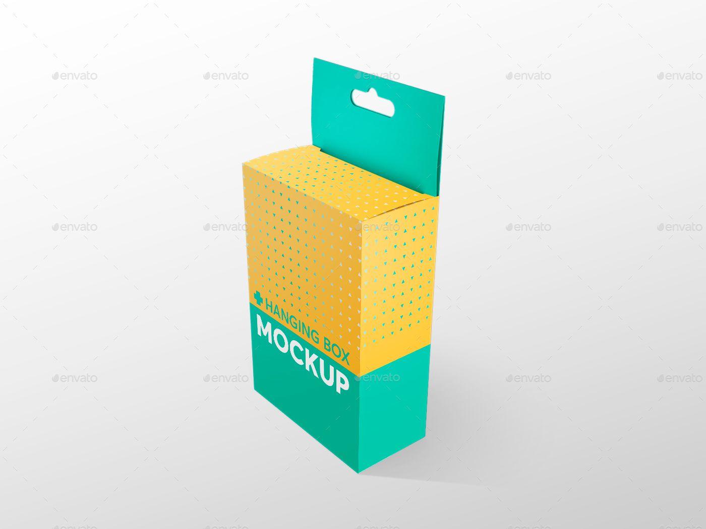 Download Hanging Box Mockups V 1 Hanging Box Mockups Box Mockup Box Packaging Design Cute Designs To Draw