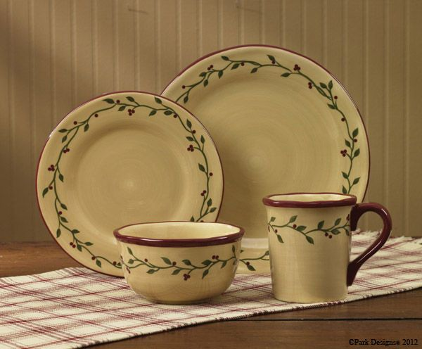 Country Primitive Dishes Thistleberry Dinnerware Country Decor