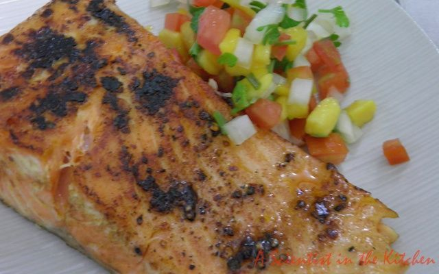 Pan-fried salmon with Thai chili paste and a date with Don Quixote