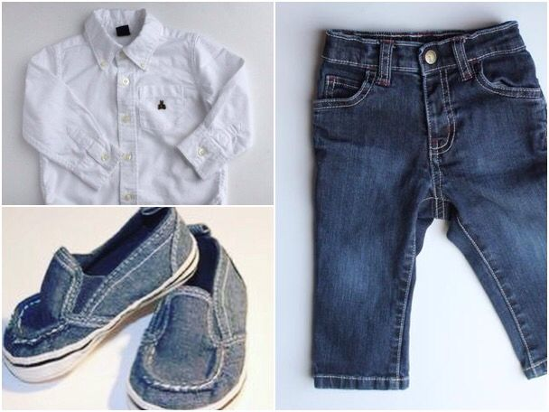 Baby Boy Outfit Shirt By Baby Gap Jeans By Gymboree And Shoes By
