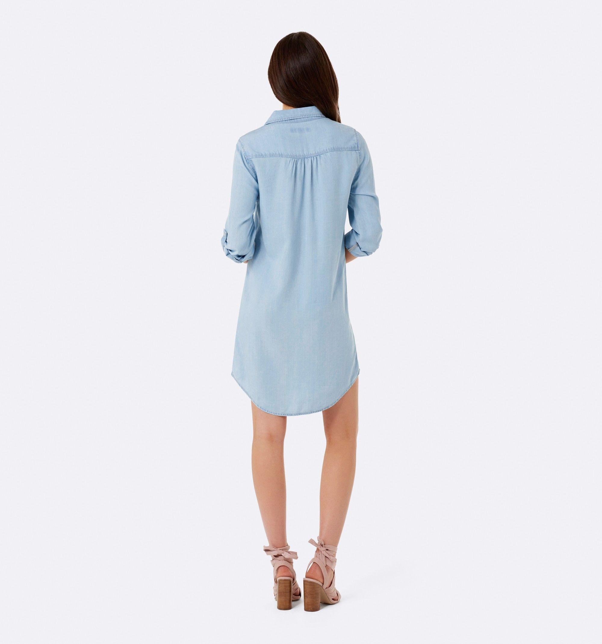 Bailey shirt dress light wash womens fashion forever new