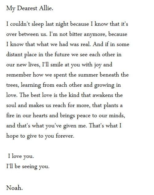 Sad notebook quotes