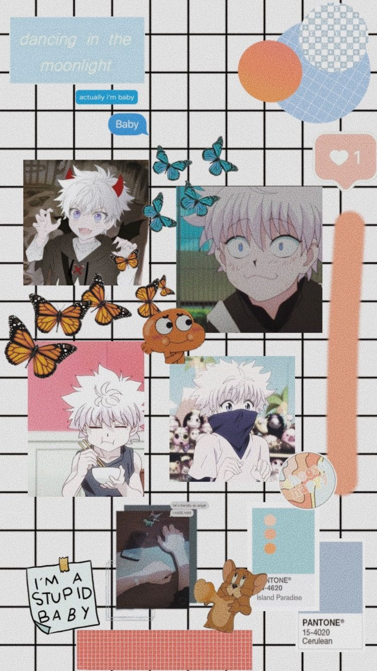 Killua Aesthetic Collage In 2021 Anime Wallpaper Iphone Cute Anime Wallpaper Cute Tumblr Wallpaper Cute anime wallpaper collage