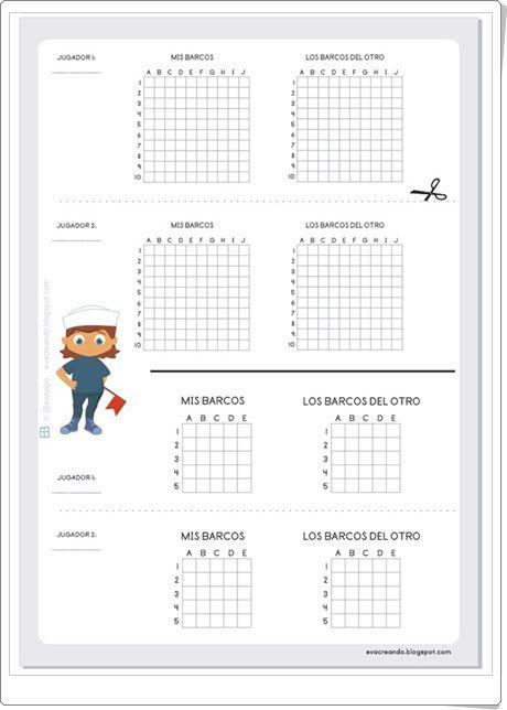 Hundir la flota (Evacreando.blogspot.com.es) | Matemáticas ...